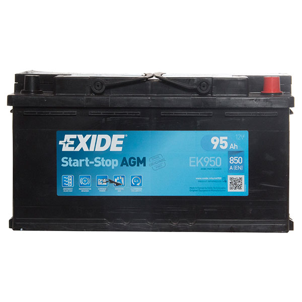 Exide AGM 019 Car Battery (850Cca) - 3 Year Guarantee