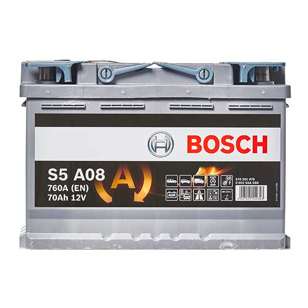Bosch AGM 096 Car Battery - 3 Year Guarantee