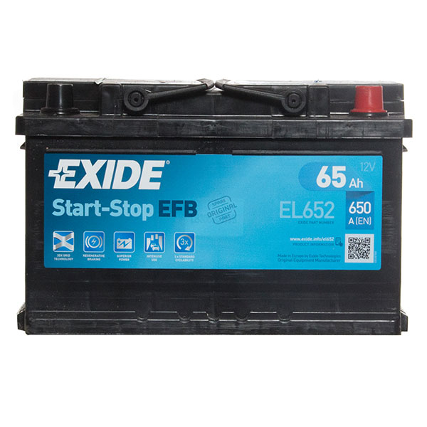 Exide EFB 100 Car Battery 3 year guarantee