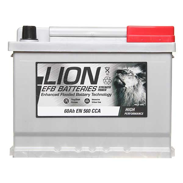 Lion EFB 027 Car Battery - 3 year Guarantee