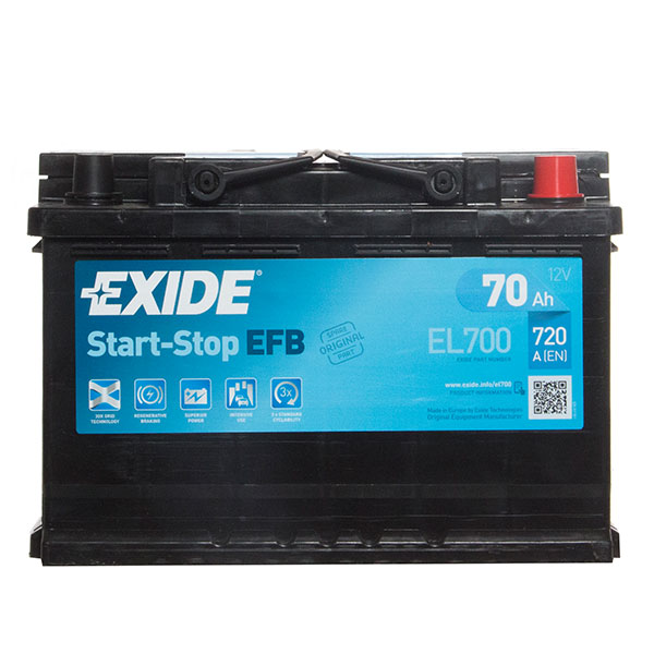 Exide EFB 096 Car Battery (EL700) - 3 year Guarantee
