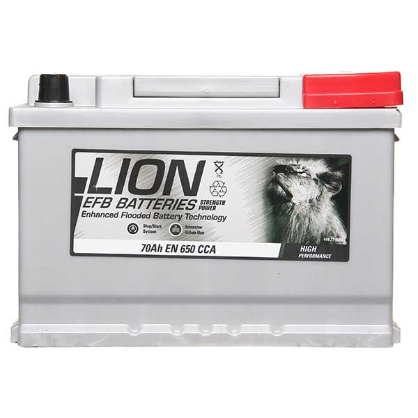 Lion EFB 096 Car Battery - 3 year Guarantee