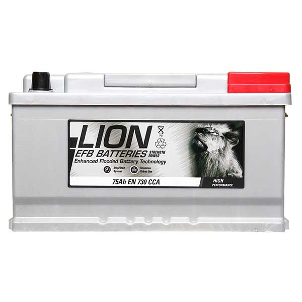 Lion EFB 110 Car Battery - 3 year Guarantee