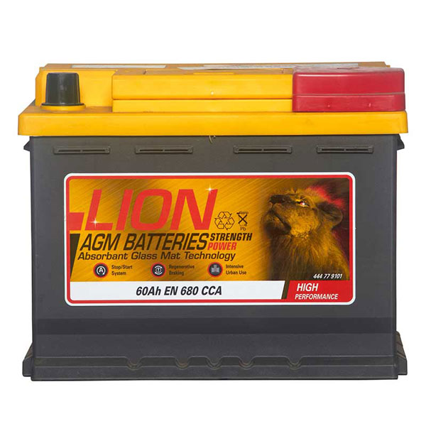 Lion 027 AGM Car Battery - 3 Year Guarantee