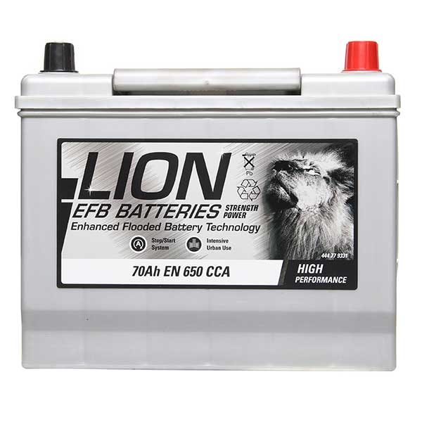 Lion EFB Battery 030 - 3 Year Guarantee