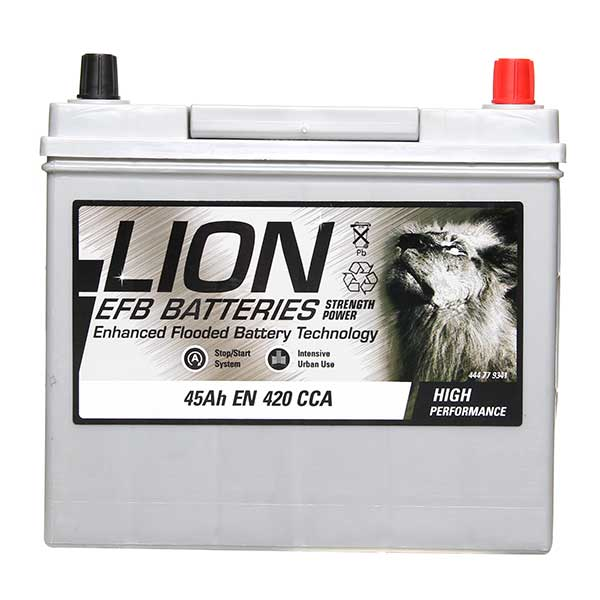 Lion EFB 158 Car Battery - 3 Year Guarantee