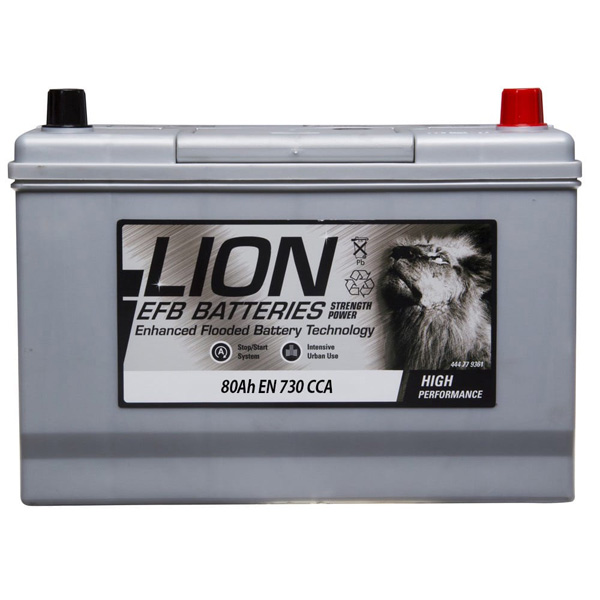 Lion EFB 335 Car Battery - 3 Year Guarantee
