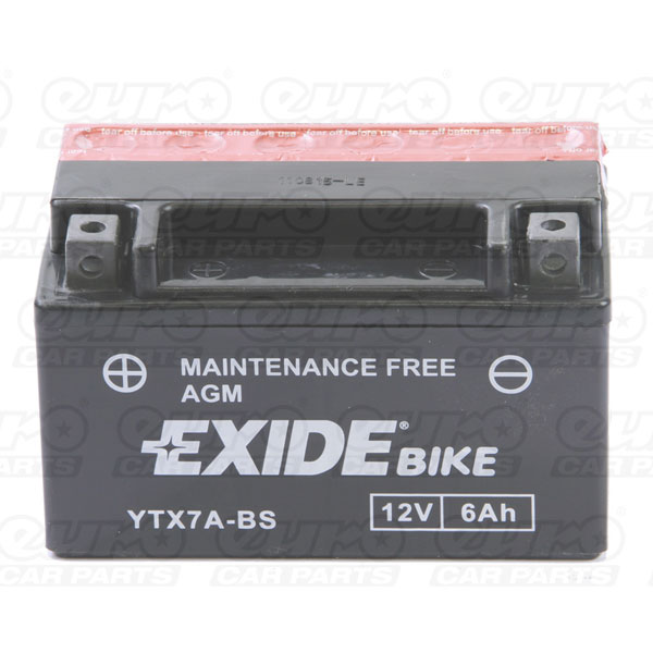 Exide ETX7A-BS Motorcycle Battery