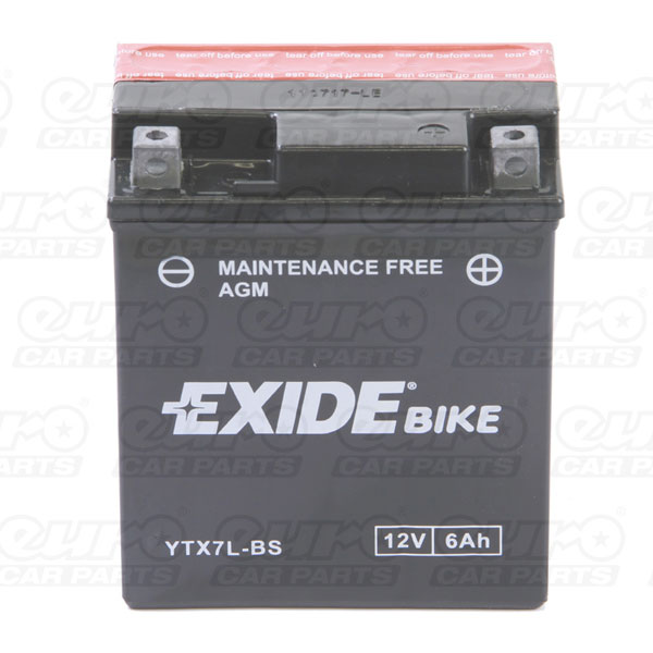 Exide ETX7L-BS Motorcycle Battery