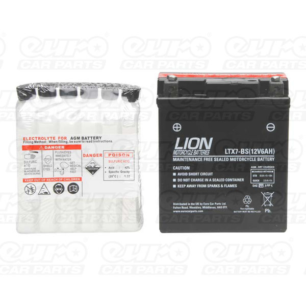 Lion Motor Cycle Battery (LTX7L-BS)