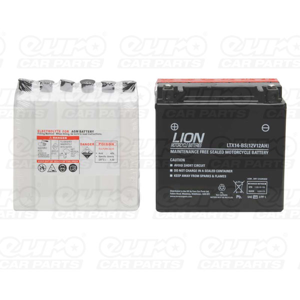 Lion Motor Cycle Battery (LTX14-BS)