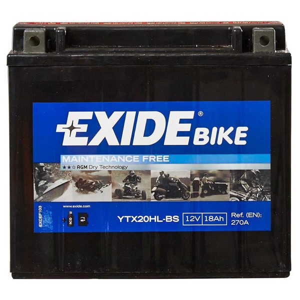 Exide ETX20L-BS Motorcycle Battery