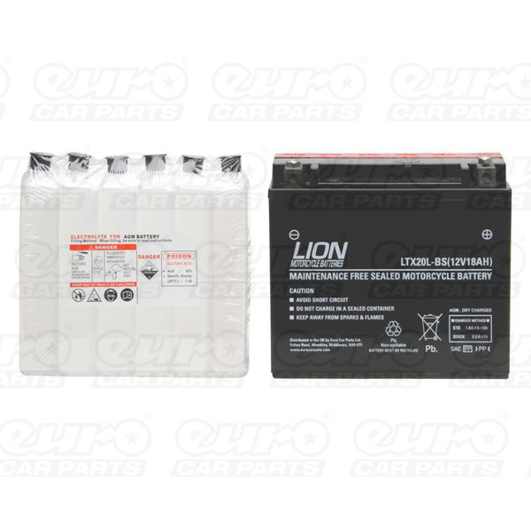 Lion Motor Cycle Battery (LTX20L-BS)