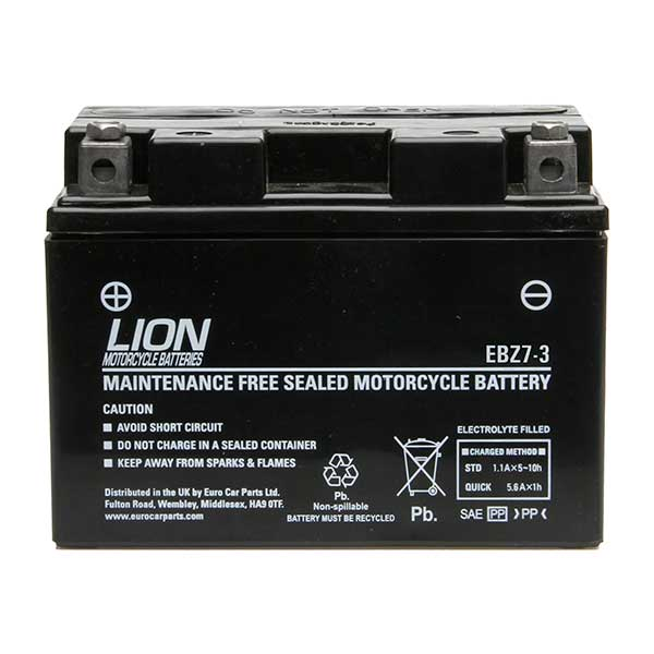 Lion Motor Cycle Battery Ebz7 3 Euro Car Parts Ie