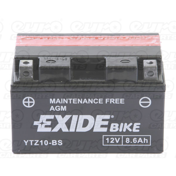 Exide YTZ10-BS Motorcycle Battery