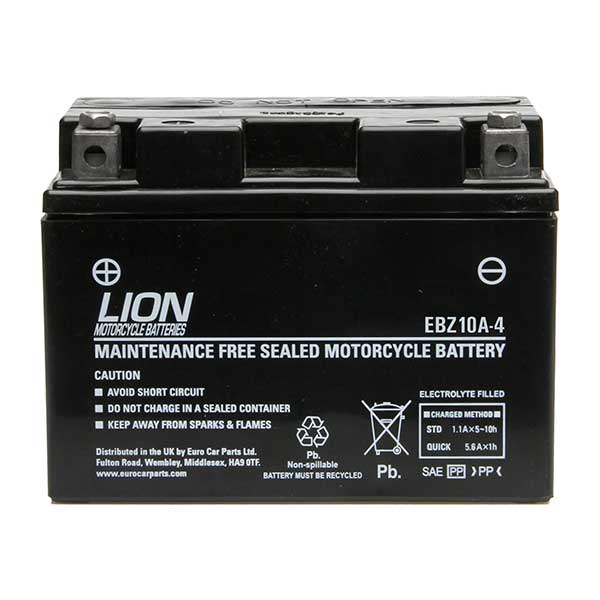 Lion Motor Cycle Battery (EBZ10A-4)
