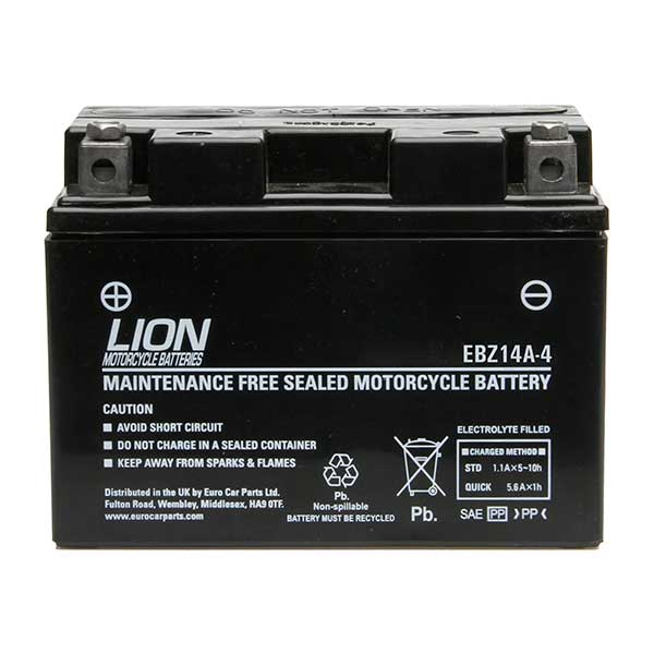 Lion Motor Cycle Battery (EBZ14A-4)