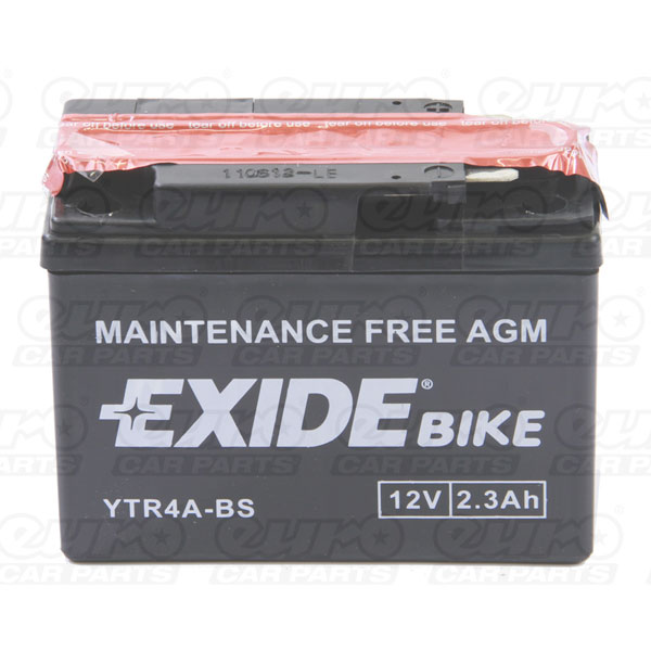 Exide Motor Cycle Battery (YTR4A-BS)