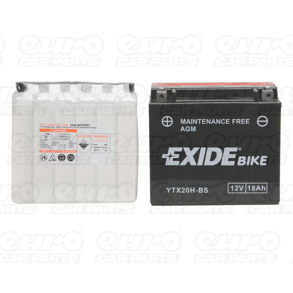 Exide ETX20H-BS Motorcycle Battery
