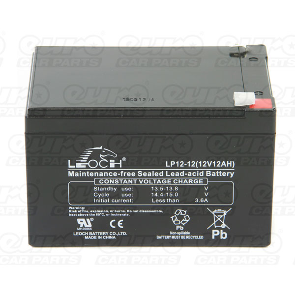 Leoch VRLA Sealed Battery - 12V 12Ah