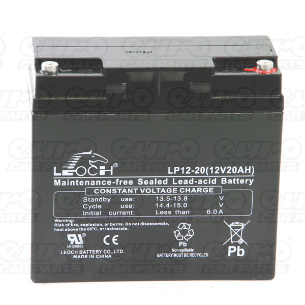 Leoch VRLA Sealed Battery - 12V 20Ah