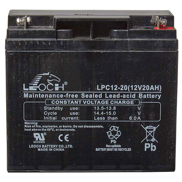 Leoch AGM Golf Trolley Battery - 12V 20Ah