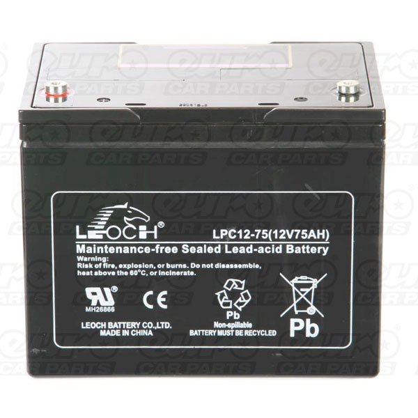 Leoch VRLA Sealed Battery - 12V 75Ah