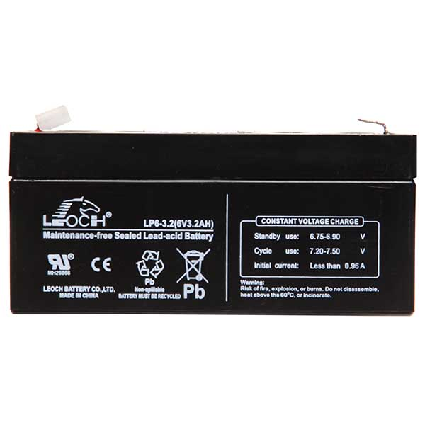 Leoch VRLA Sealed Battery 12V 3.2AH (Spade Term)