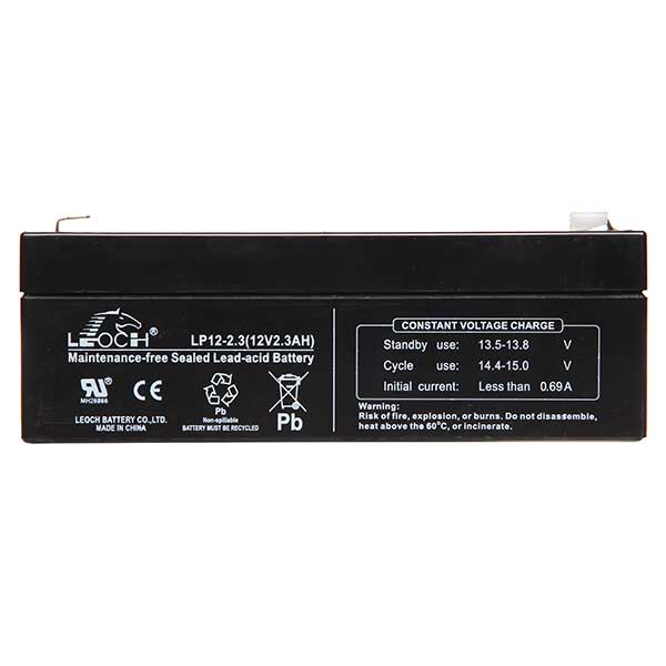 Leoch VRLA Sealed Battery 12V 2.3AH (Spade)