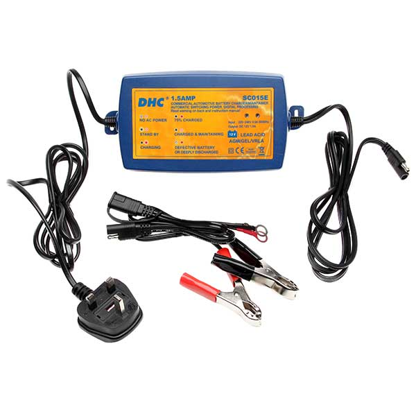 DHC DHC 12V 1.5 Amp 5 Stage Intelligent Charger