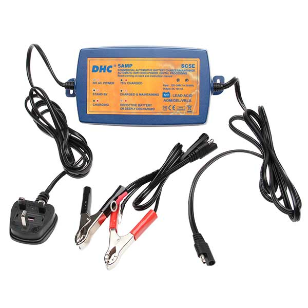 DHC DHC 12V 5 Amp 5 Stage Intelligent Battery Charger