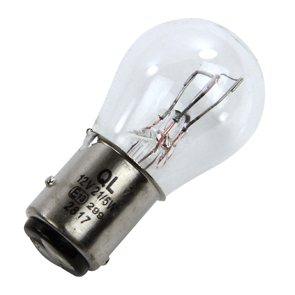 Rear Light Bulb: Click to Enlarge Neolux 380 Twin Filament Light Bulb - 12v 21w,Lighting