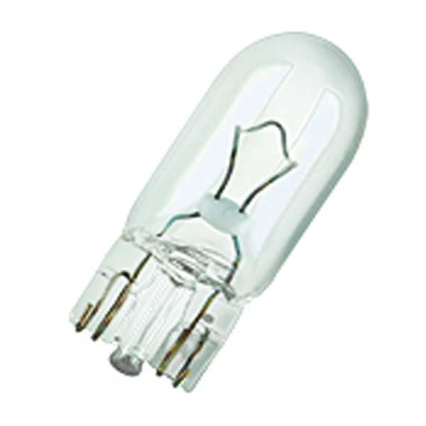 Osram 501 Capless Wedge Bulb Clear - Side Light / Indicator