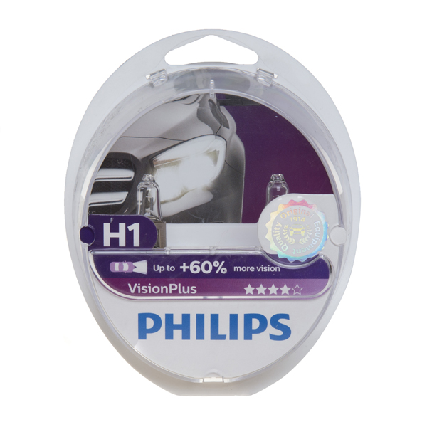 Philips Vision Plus H1 448 Bulbs (Twin Box)