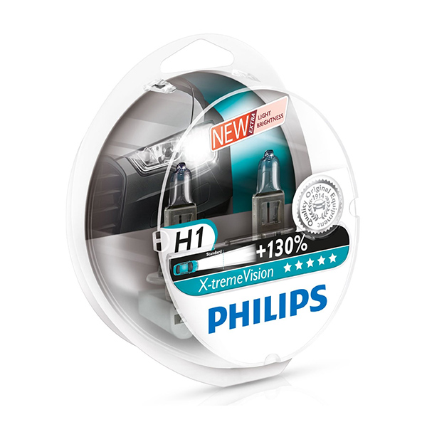 Philips Xtreme Vision PLUS 130% Extra Light - H1 Twin Pack