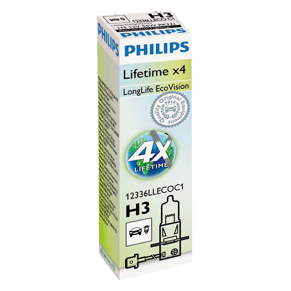 Philips Philips EcoVision Long Life - H3 Single Box
