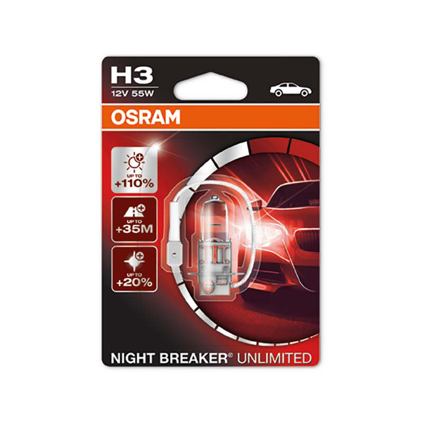 Osram Nightbreaker Unlimited H3 - Single Pack bulb