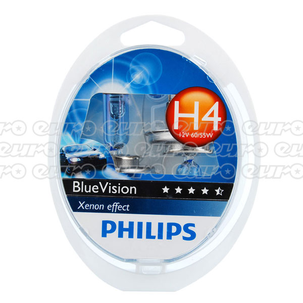 Philips Blue Vision H4 472 Bulb (Twin Box)