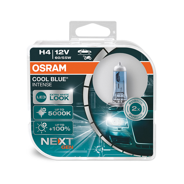 Osram Cool Blue Intense H4 Twin Pack