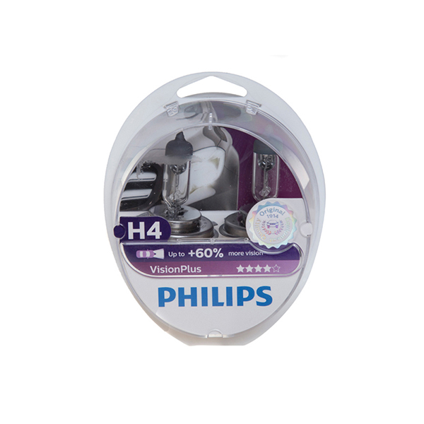 Philips Vision Plus H4 472 Bulbs + 60% (Twin Box)