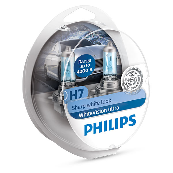 philips white vision h7 xenon effect free watch 501 bulbs euro car parts. Black Bedroom Furniture Sets. Home Design Ideas