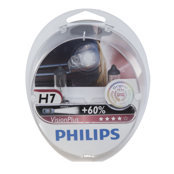 Philips Vision Plus H7 477 Bulbs (Twin Box)