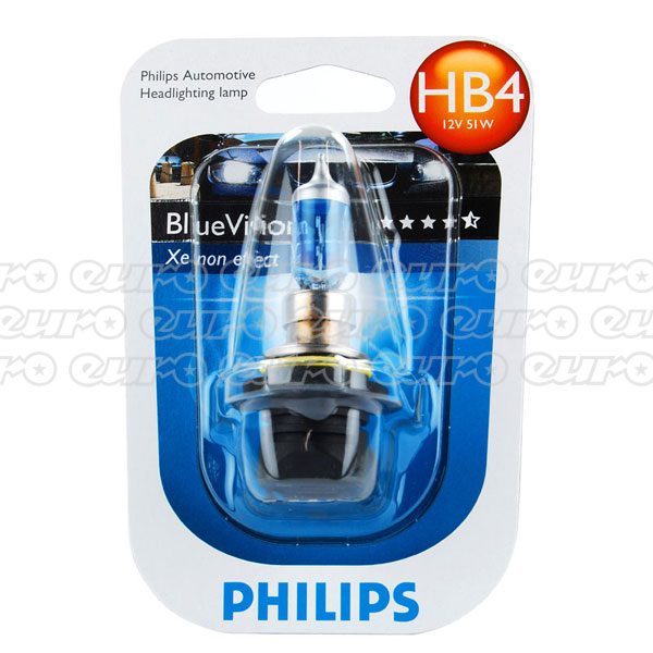 Philips Blue Vision HB4 9006 Bulb (Single)