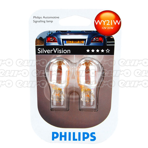 Philips Silver Vision WY21W Bulbs (Twin box)