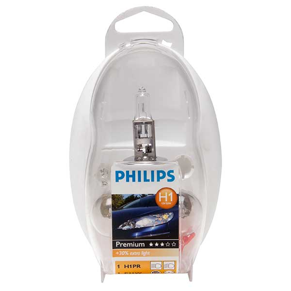 Philips H1 Spare Bulbs Kit 12V