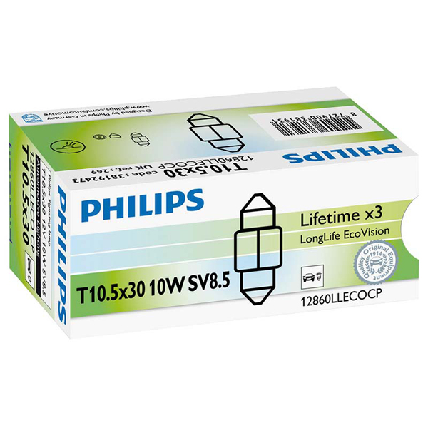Philips Long Life EcoVision  269 Bulb 12v 10w - Single