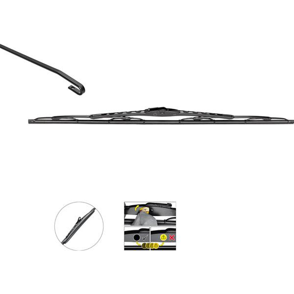 Valeo Silencio Wiper Blade With Spoiler Vm111 26 Inch Euro Car
