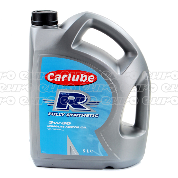 Carlube triple r 5w30 fully synthetic engine oil 5 litre for 5w30 fully synthetic motor oil