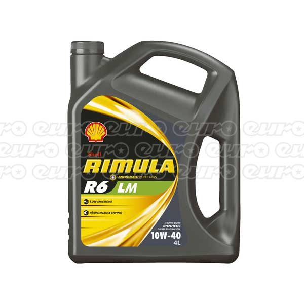Shell Rimula R6 LM Engine Oil - 10W-40 - 4ltr