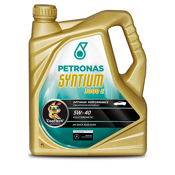 Petronas syntium 3000 e engine oil 5w 40 4ltr euro for 5 w 40 motor oil